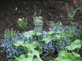 Pixie with blue flowers by dottypurrs