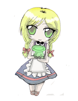 =Chibi=Viola and Froggy- by Danielle-chan
