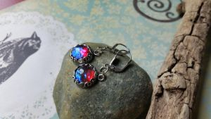 Fire Captured in Twigs and leaves Earrings by artistiquejewelry