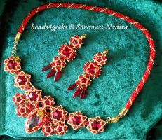 Red and Gold by Sorceress-Nadira