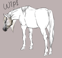 Horse WIP by Akadafeathers