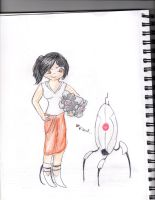 Portal 2 by Blue-Ink-Splatter