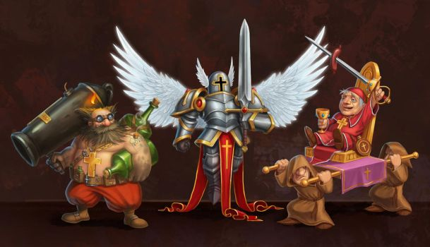 Holy Towers Characters2 by baklaher