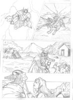 Thor and Red Sonja Test Page 2 by IgorChakal
