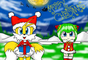 tails and cosmo Christmas -5 by erosmilestailsprower
