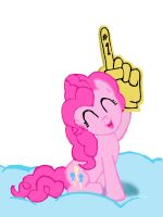 Pinkie Pie cheering by FinnishGirl97