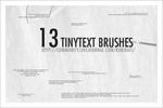 13 tiny text brushes by schokotorte