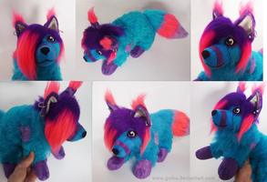 Plush commission: Blue by goiku