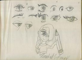 Some sketched Anime eyes by Arttt225