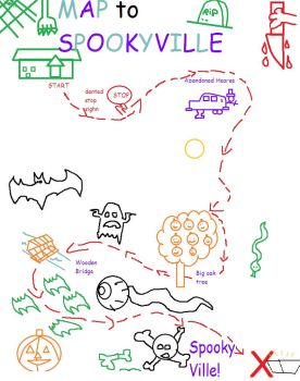 Map to Spooky Ville by deviant1290