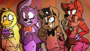 The Fazbear Crew - FNAF by Sniperisawesome