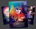 Mardi Gras Flyer Bundle by styleWish