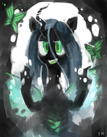Queen Chrysalis by young-sinner