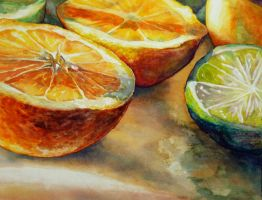 Limes and Oranges by emmekamalei