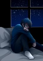 crying at night by DeluCat