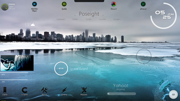 Ice Desktop - I by Poseight