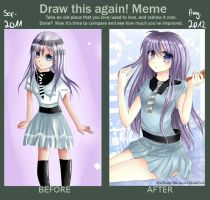 Before after meme by Yokuna-chan