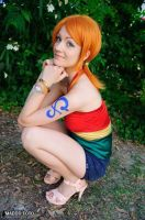 Nami Strong World, One Piece cosplay 2 by Mellorineeee