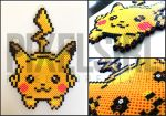 Pikachu Pokemon Perler Bead Art by pixelsirl