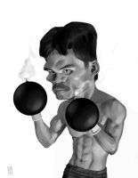 Manny Pacquiao Caricature by VictorGatmaitan