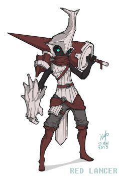 Red Lance Beetle Knight by Vanguardias