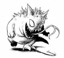 Gengar - Ink by CrazyChucky