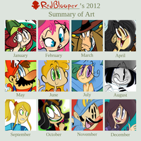 2012 Summary of Art by RedBlooper