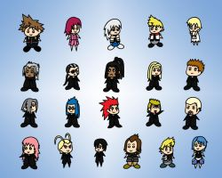 Chibi KH characters by Scorpius02