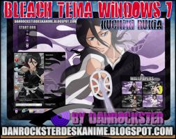 Kuchiki Rukia Theme Windows 7 by Danrockster