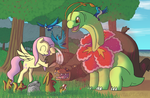 Ponies and pokemons series meganium nr. 2 by CrisPokeFan