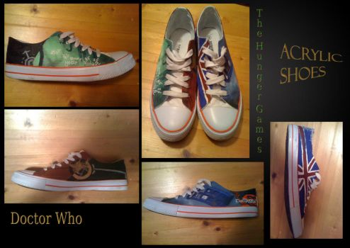 Doctor Who Hunger Games Shoes by Ti2i4n