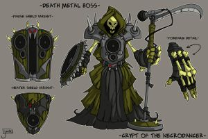 COTND: Death Metal Boss concept by jouste