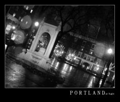 Portland at Night 1 by natronics