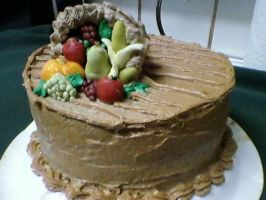 Thanksgiving Cornucopia Cake by wishmatrix