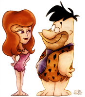 Fred Flintstone + Ann Margrock by Georgia-O-Queef
