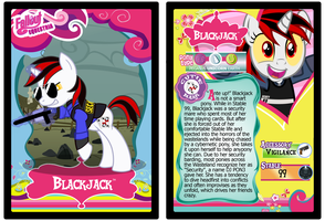 Blackjack Trading Card by RinMitzuki