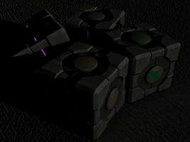 Custom Portal Cubes - Night by Neon2005