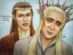 Elrond trying to tell Thranduil what to do by Meowchee