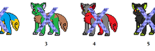 Little Wolf Tailmouth Adopts ( CLOSED ) by TaraPsycho