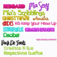 Pack De Fonts by SweetLoveXOXO