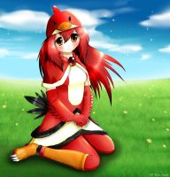 Angry Birds red bird girl 2 by Neon-Juma