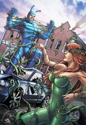 Poison Ivy Vs The Tick! by Carl-Riley-Art