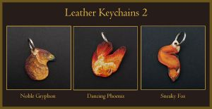 Leather Keychains 2 by windfalcon