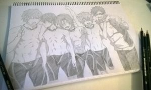 Free! Iwatobi swim team + Rin :D by Tiha90