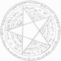 The Dies Irae Pentacle by kyetxian