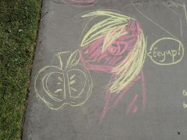 Big Mac Chalk Drawing by ShowtimeandCoal