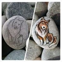 Rough Collie Pendant Necklace - Progress by sobeyondthis