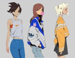 Overwatch fashion week by samuelyounart