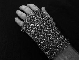 Chainmail half gauntlet by imaginary-figment