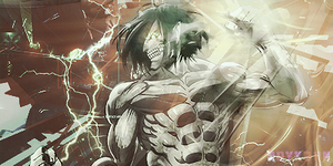 Eren Jeager Titan Signature by Raykorn
